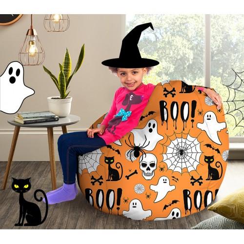 printed halloween beanbags