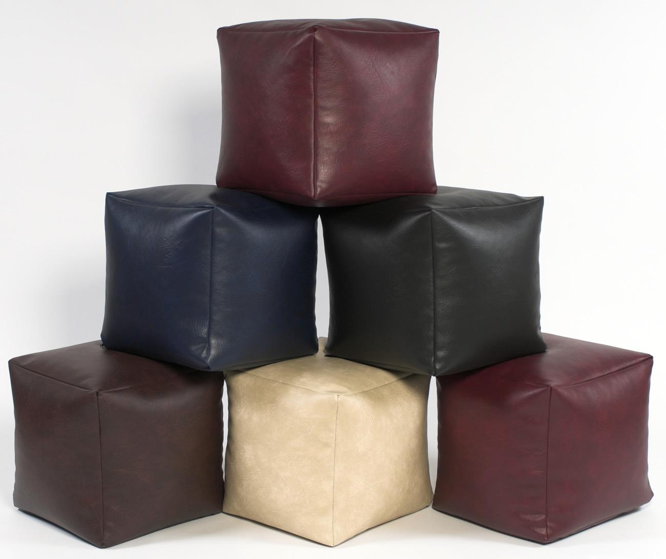 Marvelous Footstool Cube Faux Leather Creativecarmelina Interior Chair Design Creativecarmelinacom
